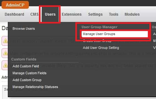 avchat phpfox manage user groups