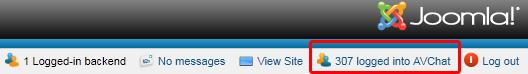 Who's online module in Joomla! 1.6 web site administrator area