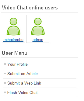 Who's online module in Joomla! 1.6 web site